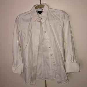 Crisp white button blouse